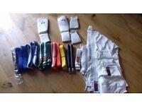 Karate Suit/Belts/Shin pads