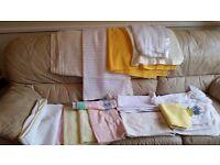 Large quantity of nursery bedding . Winnie the pooh