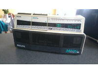 Phillips D8304 Moving Sound Radio Dual Cassette Recorder Boom Box Ghetto Blaster £50 OVNO