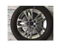FORD S-MAX 2010-2015 ALLOY WHEEL R16 WITH BAD TYRE BT11-2