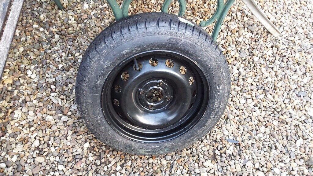 Brand new tyre on unused wheel
