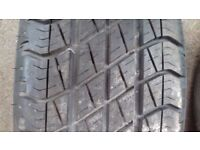 Goodyear Wrangler tyre complete with Rim -- Landrover