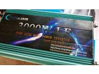24v to 220v inverter 3000 w truck lorry solar power