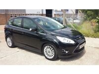 2014 FORD C-MAX TITANIUM TURBO BLACK 1.0 PETROL LOW MILEAGE CHEAP TO SELL WARRANTY CAT D ON HPI