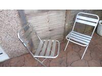 folding aluminium chairs