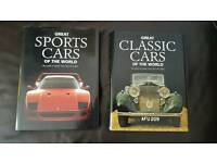 2 First Edition Hardcover Books - Great Classic Cars and Great Sports Cars