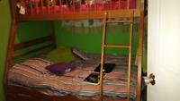 Bunk Beds double/single with 2 mattresses and sheets