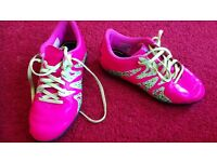 Adidas Pink football astro boots size 1