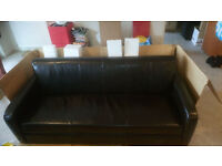 New Leather Sofa and Armchair