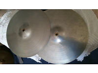 "Hi Hat ""Zyn"" nickel brass cymbals."