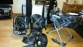 Mamas and Papas Travel System, Ultima 9 in 1 & MPX Chasis – Black Couture - £100