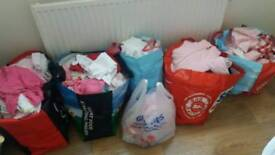 6 large bags of baby girl clothes £35