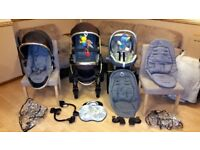 iCandy Peach Double Pushchair Stroller - Limited Edition Maxi Cosi Car Seat & More