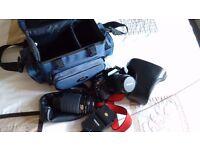 Miranda SLR film camera and accessories