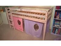 Child's bed with under storage playarea