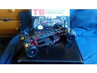 Rare 1/10 Tamiya TB Evolution 3 Rc car and spares