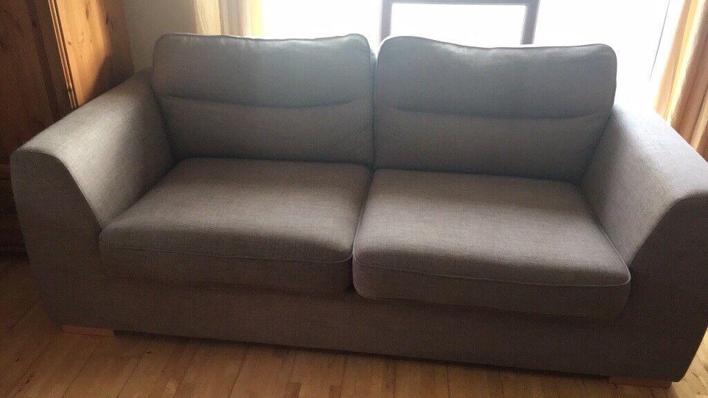 x2 Three Seater Grey Sofas | in Cheddar, Somerset | Gumtree