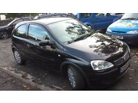Vauxhall Corsa Car 1.2 Black 3 door 2003 Low Mileage Long MOT Ideal first car very Cheap insurance.