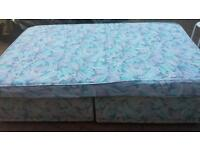 double divan bed with clean mattress