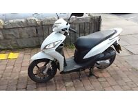 2013 63 PLATE HONDA NSC110 AUTOMATIC SCOOTER WHITE 2500 MILES FSH FREE LOCAL DELIVERY £99 NATIONWIDE