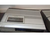 SANYO VTC5000 BETAMAX VIDEO RECORDERS X 2 WITH INSTRUCTIONS SPARES OR REPAIRS
