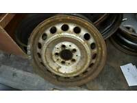 "Genuine Mercedes Vito 16"" Steel wheels with full set of bolts."