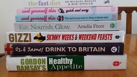 8 x Cookery and Lifestyle books in very good condition