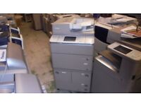 CANON IR6055N & STAPLE FINISHER 55 COPY PER MINUTE BLACK AND WHITE COPIER / PRINTER 507K