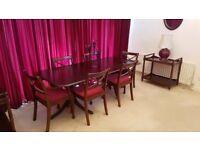 MAHOGANY TABLE & CHAIRS and other mahogany items