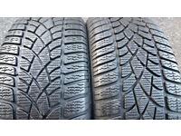 225 45 17 2 x tyres Dunlop SP Winter Sport 3D MO
