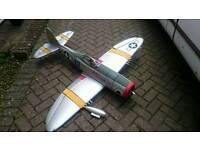 Rc p47 radio controlled plane