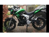 Lexmoto Venom 125cc (Learner Legal) perfect condition with only 315 miles on the clock