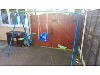 Toddler and Children's outdoor swing & seesaw