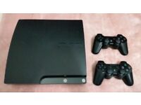 Ps3 slim with games and controllers all accessories