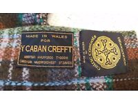"VINTAGE WELSH WOOL CAPE COAT STUNNING CONDITION ""Y CABAN CREFFT MILL"" 12 - 14"