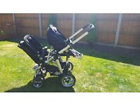 I candy apple to pear double pushchair