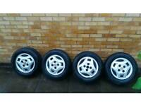 "Mitsubishi 14"" alloy wheels and 195x65x14 tyres"