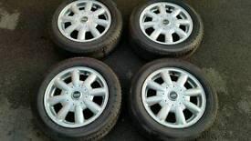 Mini Cooper Alloys Wheels + Tyres