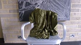 5.2m 100% Silk Satin High Quality Military Green Gorgeous Drape for clothing - LUXURY