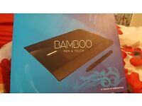 Wacom Bamboo Tablet and Pen