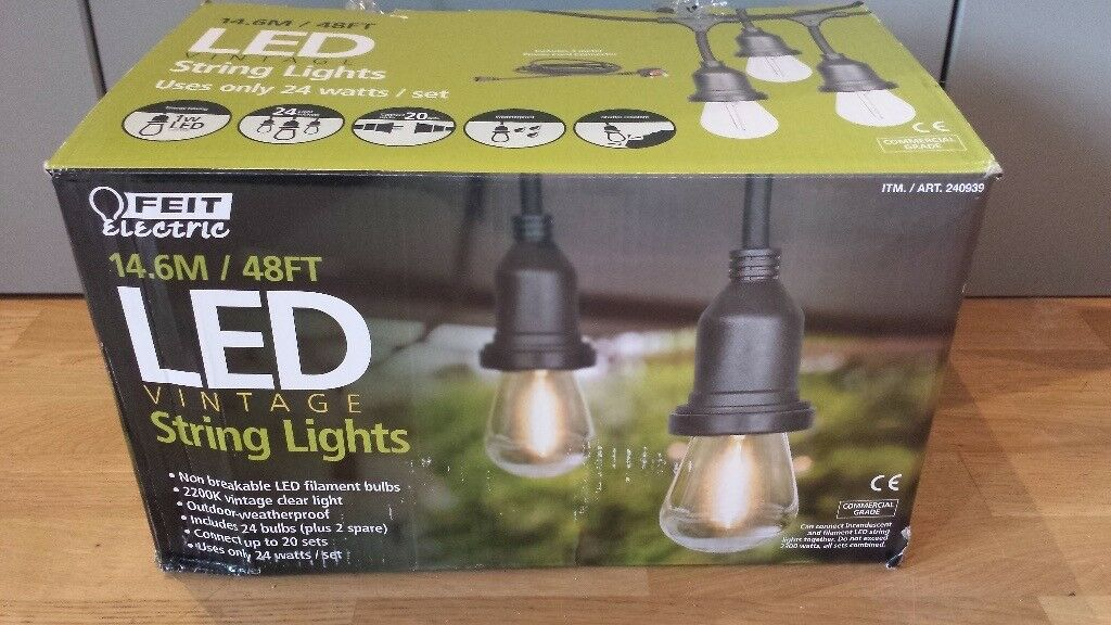 Feit Electric String Lights Awesome New Style Feit Electric LED Vintage Style Bulbs String Lights