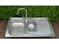 Stainless Steel Kitchen Sink with mixer tap