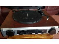 Record Player with Radio - New - plays 33/45/78 records