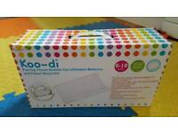 Koo di pop up travel cot inflatable mattress and bed sheet- used once
