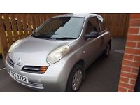Nissan Mirca, Silver. Good condition full 12 months MOT