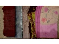 Colourful long fabrics to use as scarves or for craft projects