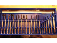 21 Piece Precision toolkit, spanners, nut spinners, hex drivers, screwdrivers
