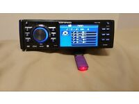 """CAR DVD MP3 CD PLAYER RIPSPEED WITH 3.5"""" INCH SCREEN USB AUX SD 4 X 50 WATT AMPLIFIER STEREO"""