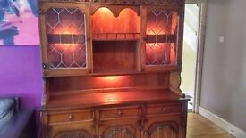 Nathan dresser/display cabinet/sideboard with light