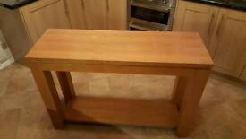 Console Table Solid Oak veneered